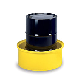 "Poly Spill Sump Basin - 35"" Dia.X14""H - Rotational Molded High-Density Polyethylene"