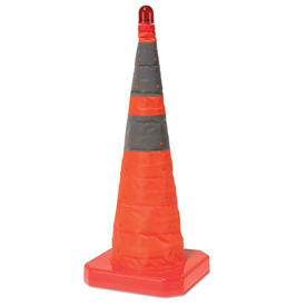 "Cortina Collapsible Traffic Cone - 28""H - Bag Of Five Cones"