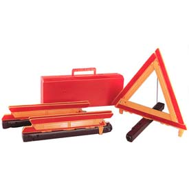 Three (3) Triangles In Plastic Box With Handle - Pkg Qty 3