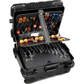 "CH Ellis Chicago Case RMMST9CARTMH, Wheeled Tool Case, 20""L x 16-1/2""W x 12-1/4""H, Black/Red"