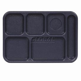 "Cambro 10146CW186 - School Tray  10"" x 14"" 6 Compartment, Navy Blue - Pkg Qty 24"