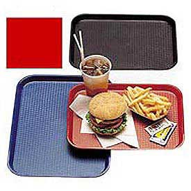 "Cambro 1216FF163 - Tray, Fast Food, Red, 12"" x 16"""
