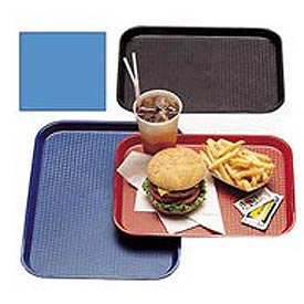 "Cambro 1216FF168 - Tray, Fast Food, Blue, 12"" x 16""  - Pkg Qty 24"