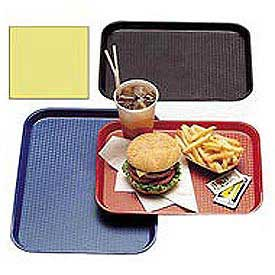 "Cambro 1418FF108 - Tray Fast Food 14"" x 18"",  Primrose Yellow - Pkg Qty 12"