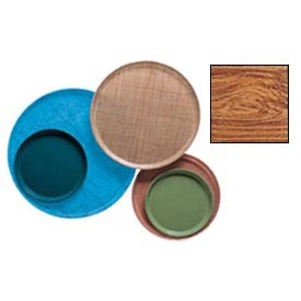 "Cambro 1550309 - Camtray 15.5"" Round Low,  Java Teak - Pkg Qty 12"