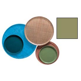 "Cambro 1550428 - Camtray 15.5"" Round Low,  Olive Green - Pkg Qty 12"