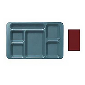 "Cambro 1596CP416 - School Tray 2 x 2 9"" x 15"", Cranberry - Pkg Qty 24"