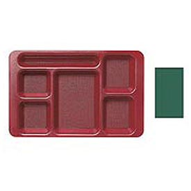 "Cambro 1596CW119 - School Tray 2 x 2 10"" x 15"", Sherwood Green - Pkg Qty 24"