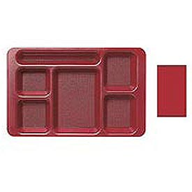 "Cambro 1596CW404 - School Tray 2 x 2 10"" x 15"", Red - Pkg Qty 24"