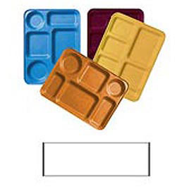 """Cambro 1222D199 - Tray Dietary 12"""" x 22"""", Taupe - Pkg Qty 12"""