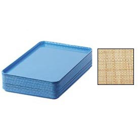 "Cambro 1826204 - Camtray 18"" x 26"" Rectangular,  Rattan - Pkg Qty 6"