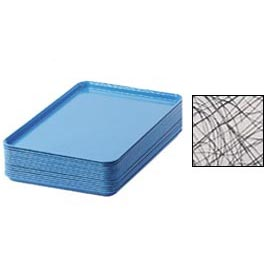 "Cambro 1826277 - Camtray 18"" x 26"" Rectangular,  Swirl Gray - Pkg Qty 6"