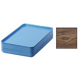 "Cambro 1826304 - Camtray 18"" x 26"" Rectangular,  Country Oak - Pkg Qty 6"