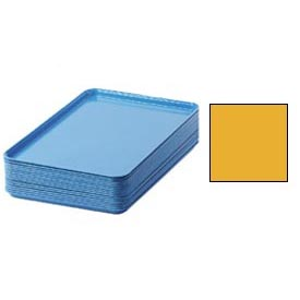"Cambro 1826504 - Camtray 18"" x 26"" Rectangular,  Mustard - Pkg Qty 6"