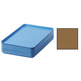 "Cambro 1826508 - Camtray 18"" x 26"" Rectangular,  Suede Brown - Pkg Qty 6"