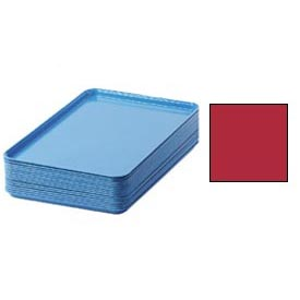 "Cambro 1826521 - Camtray 18"" x 26"" Rectangular,  Cambro Red - Pkg Qty 6"