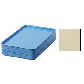 "Cambro 1826537 - Camtray 18"" x 26"" Rectangular,  Cameo Yellow - Pkg Qty 6"