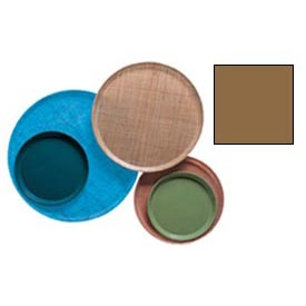 """Cambro 1950508 - Camtray 19.5"""" Round Low,  Suede Brown - Pkg Qty 12"""