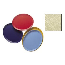 "Cambro 2500214 - Camtray 19"" x 24"" Oval,  Abstract Tan - Pkg Qty 6"