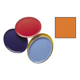 "Cambro 2500222 - Camtray 19"" x 24"" Oval,  Orange Pizazz - Pkg Qty 6"