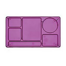 "Cambro 915CP416 - School Tray 2 x 2 9"" x 15"", Cranberry - Pkg Qty 24"