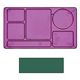 "Cambro 915CW119 - School Tray 2 x 2 10"" x 14"", Sherwood Green - Pkg Qty 24"