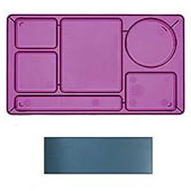 "Cambro 915CW414 - School Tray 2 x 2 10"" x 14"", Teal - Pkg Qty 24"