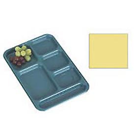 "Cambro BCT1014145 - School Tray 10"" x 14"" 6 Compartment, Yellow - Pkg Qty 24"