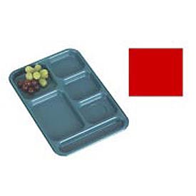 "Cambro BCT1014163 - School Tray 10"" x 14"" 6 Compartment, Red - Pkg Qty 24"