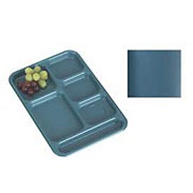 "Cambro BCT1014414 - School Tray 10"" x 14"" 6 Compartment, Teal - Pkg Qty 24"