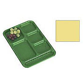 "Cambro PS1014145 - School Tray, 10"" x 14"" 6 Compartment, Yellow - Pkg Qty 24"