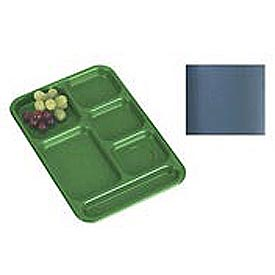 "Cambro PS1014414 - School Tray, 10"" x 14"" 6 Compartment, Teal - Pkg Qty 24"
