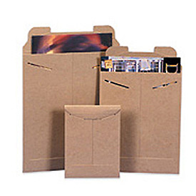 "Stayflat Mailer, 7""W x 9""L, Kraft, 100 Pack"