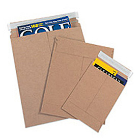"Self-Seal Stayflat Mailer, 6""W x 8""L, Kraft, 100 Pack"
