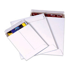 "Self-Seal Stayflat Mailer, 9-3/4""W x 12-1/4""L, White, 25 Pack"