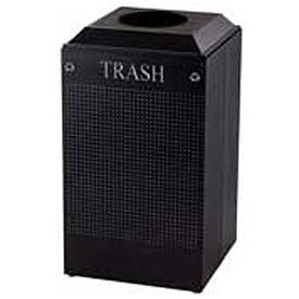 Rubbermaid® Silhouette DCR24T Recycling Receptacle w/Trash Opening, 29 Gallon - Black
