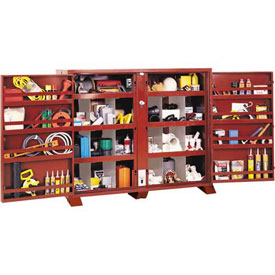 Stationary Heavy Duty Cabinet With Bin Dividers