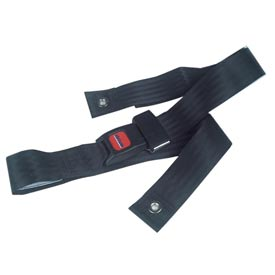 """Black Wheelchair Seat Belt, Auto-Clasp Closure, For Waist Sizes Up to 48"""", 1 Each"""