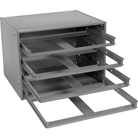 Durham Slide Rack 303-95 - For Large Compartment Storage Boxes - Four Drawer