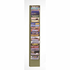 23 Pocket Vertcal Literature Rack - Tan