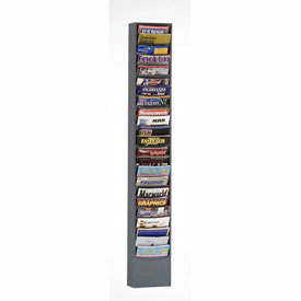 23 Pocket Vertical Literature Rack - Gray