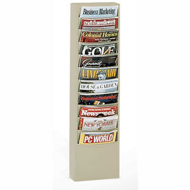 11 Pocket Vertical Literature Rack - Putty
