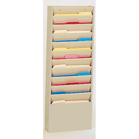 11 Pocket Medical Chart & Special Purpose Literature Rack - Putty