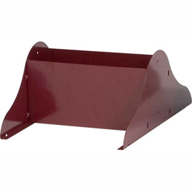 Optional Base Legs for Vertical Literature Rack - Burgundy