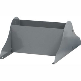 "Durham Optional Legs For Literature Racks - Fits 9-3/4"" Racks - Gray"