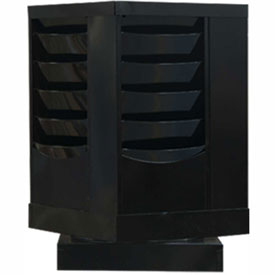 20 Pocket Rotary Literature Rack - Black