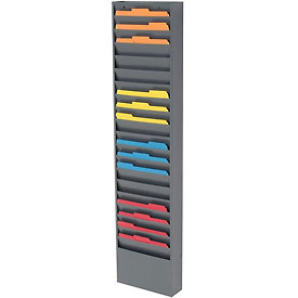 20 Pocket Medical Chart & Special Purpose Literature Rack - Gray