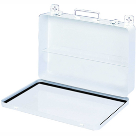 First Aid Box Metal - 13-11/16x2-3/8x9-1/8 - Pkg Qty 6