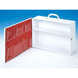 First Aid Cabinet 2-Shelf Swing Out Door - 15-x4-1/2x10-1/4