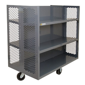 Durham Double-Sided Clearview Stock Truck EX-3060-2SC-6PH-95 60x30 - 4 Adjustable & 2 Fixed Shelves